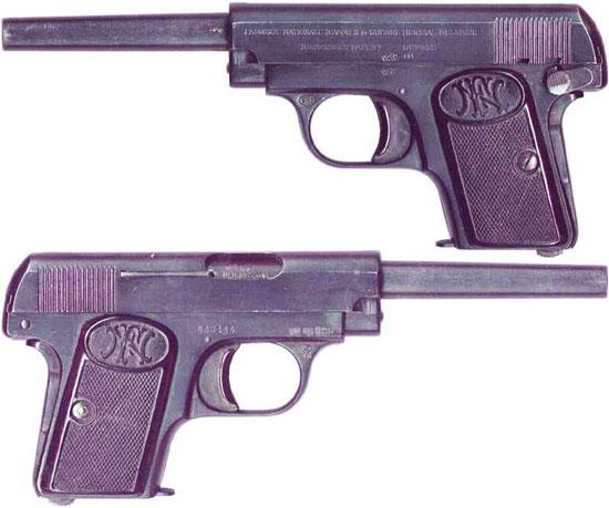 FN Browning M 1906 с удлиненным стволом