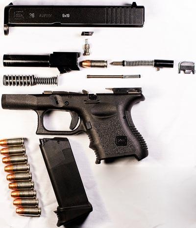 Glock 26 неполная разборка