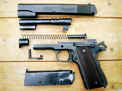 Неполная разборка пистолета Кольт М 1911А1