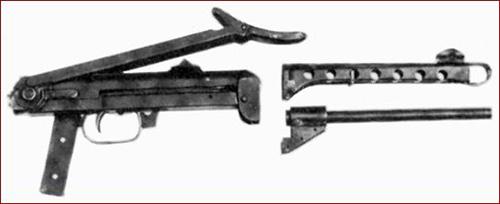 Прототип финского пистолета-пулемёта m/44. Данный образец представляет собой советский ППС-42, переделанный под патрон 9х19 Para