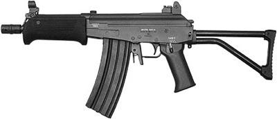В штурмовой винтовке «Микро-Галил» флажок переводчика-предохранителя продублирован флажком с левой стороны ствольной коробки