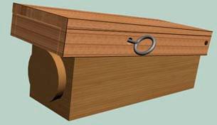 Противопехотная герметичная деревянная мина МКФ