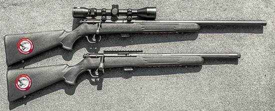Модель Savage Mark II FV-SR отличается коротким стволом с каннелюрами и дульной резьбой, а Mark II FVXP комплектуется классическим охотничьим прицелом 3-9х40