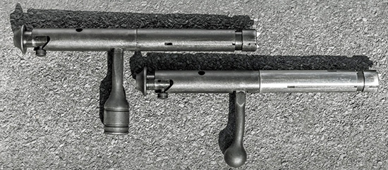 Затворы винтовок слегка отличаются оформлением. У затвора Mark II FV-SR увеличена рукоятка