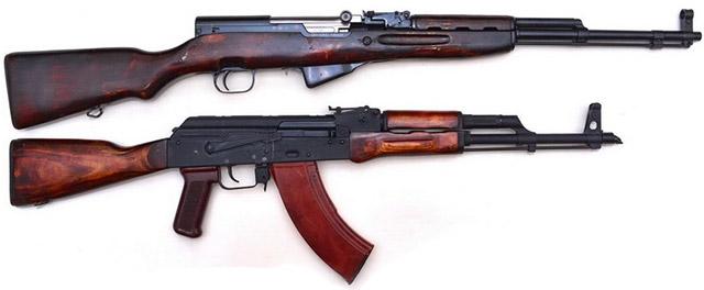СКС-45 и АКМ