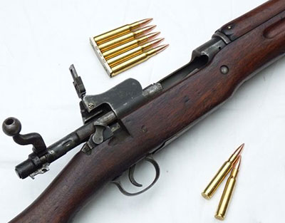US Rifle M1917 с используемыми боеприпасами