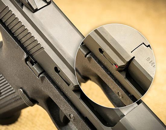 Роль индикатора наличия патрона в патроннике у FNS-9 выполняет выбрасыватель
