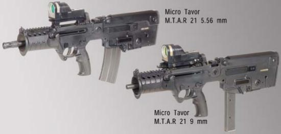 Micro Tavor MTAR 21 калибра 5.56x45 мм Micro Tavor MTAR 21 калибра 9х19 мм