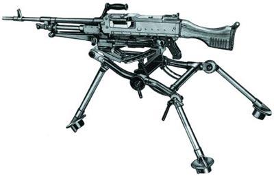 Бельгийский единый пулемет FN MAG на станке-треноге FN LGM
