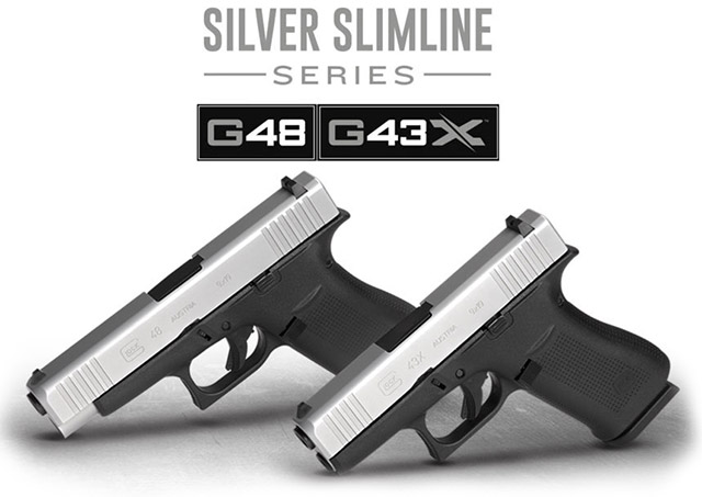 Glock G43X и Glock G48 с серебристым затвором из нержавеющей стали