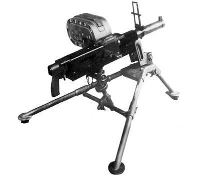 XM174 в боевом положении