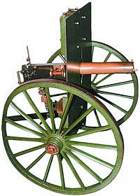 Станковый пулемет системы Максима обр. 1889 года на станке лафетного типа