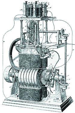 Электрическая машина конструкции Х. Максима