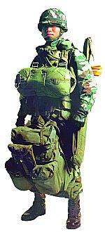 Японский десантник в полной экипировке
