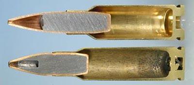 6.5x38 Grendel (сверху) 6.8x43 SPC (снизу)