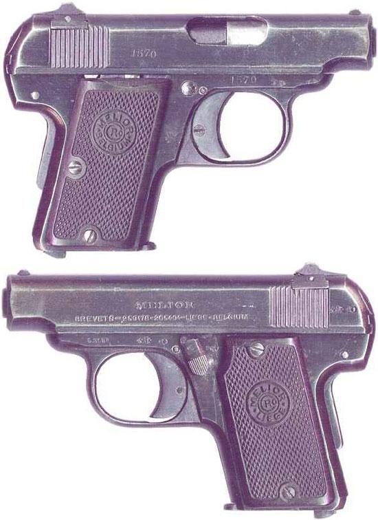 Melior New Model калибра 6.35 мм (образца 1927 года) с рамочным предохранителем