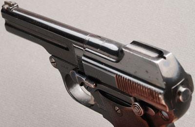 Steyr-Pieper M1908/34 вид сверху-сзади