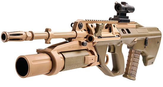 F90M(G) с установленным подствольным гранатометом ML40AUS
