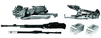 12,7-мм крупнокалиберный пулемет НСВ-12,7 «Утес» со станком-треногой 6У6 (в разобранном виде)