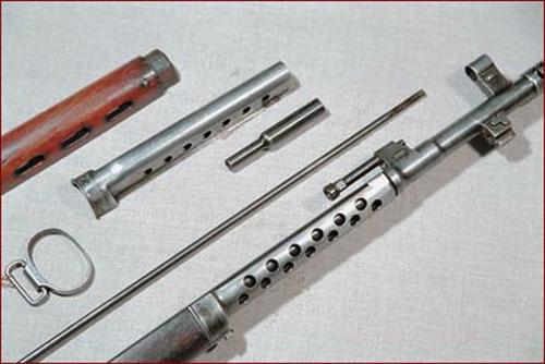 Детали газового двигателя винтовки СВТ-40