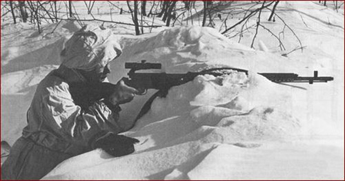 Финский снайпер с трофейной СВТ-40