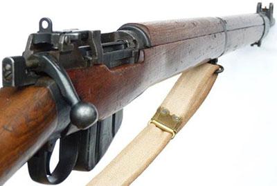 Вид на прицельные приспособления винтовки No.4 Mk I