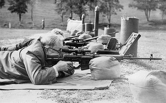 На стрельбище Харьковского военного училища, 1984 г.