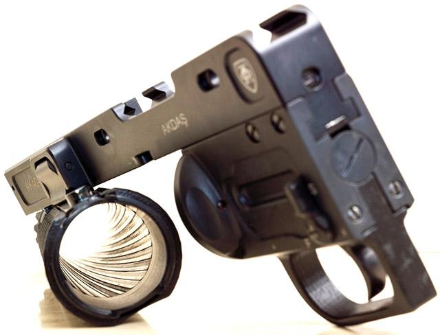 Гранатомёт AK40-GL адаптирован для эксплуатации как правшами, так и левшами