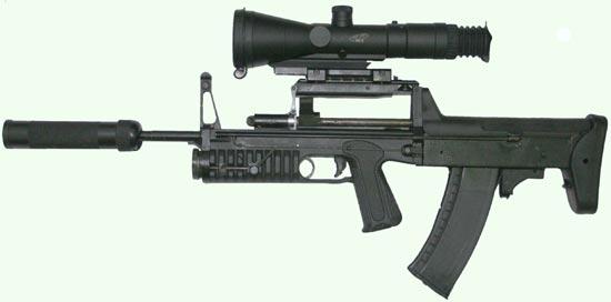 АДС с прибором малошумной стрельбы и прицельным комплексом дневного / ночного видения