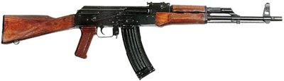 опытный <a href='https://arsenal-info.ru/pub/art/1305' target='_blank'>автомат Калашникова калибра</a> 5.45 мм