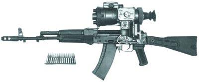 5,45-мм автомат АК 74М с ночным прицелом 1ПН51