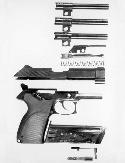Неполная разборка 7,62/9-мм пистолета «Грач-2»