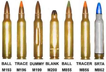 патроны для автоматических винтовок M16 и M4