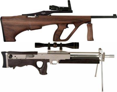 Ложи для <a href='https://arsenal-info.ru/b/book/2362237253/9' target='_self'>малокалиберной винтовки</a> Ruger 10/22, выпускаемые в США фирмой Ironwood Design, очевидным образом подражают более известным прототипам