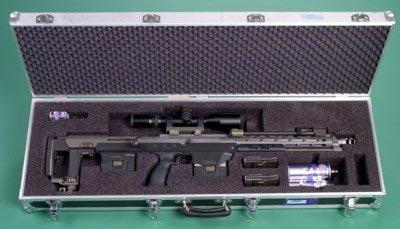 Снайперская винтовка AMP DSR-1 в специальном кейсе для транспортировки