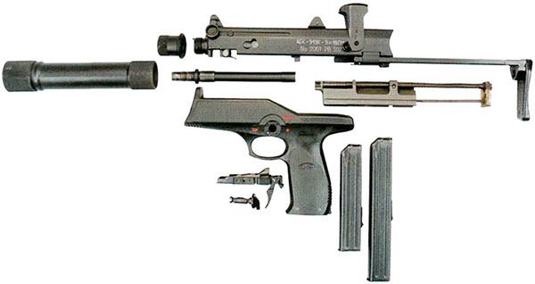 Неполная разборка пистолета-пулемета АЕК-919К