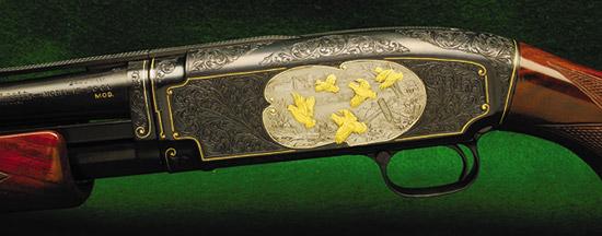 Авторская гравюра на современном охотничьем винчестере — это, конечно, красиво, но такое ружье все-таки для интерьера, а не для охоты.