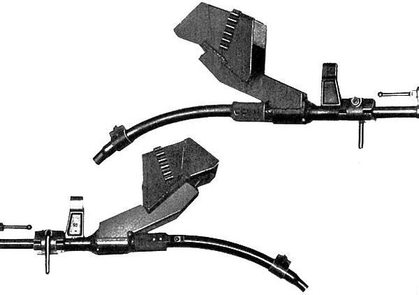 Ствол-насадка Vorsatz J, искривленный на 45 град. с призматическим перископическим прицельным приспособлением (вид слева и вид справа)