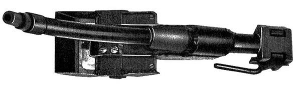 Cтвол-насадка Vorsatz J, искривленный на 45 градусов с призматическим перископическим прицельным приспособлением (вид снизу)