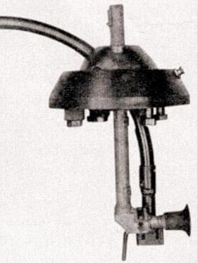 Вариант искривленного ствола-насадки Vorsatz PZ, смонтированного в шаровой установке с перископическим прицелом