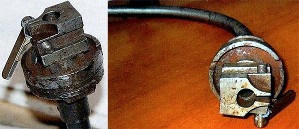 Узел крепления ствола-насадки станкового пулемета Горюнова СГМ