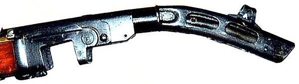 Дульная часть опытного пистолета-пулемета Шпагина