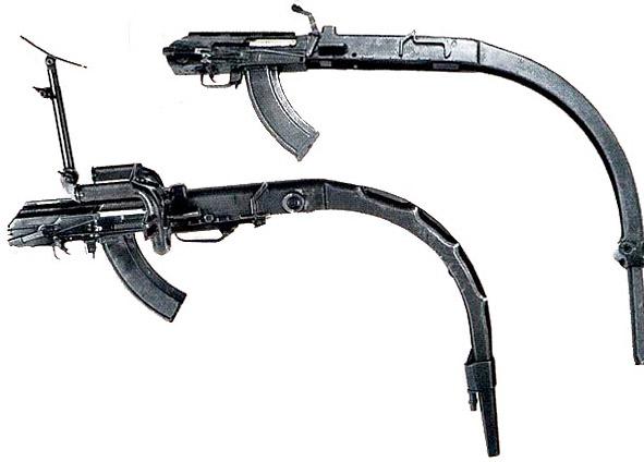 Опытные модели танковых пулеметов на базе автомата Калашникова с криволинейным стволом конструкции Н.Ф. Макарова и К.Г. Куренкова
