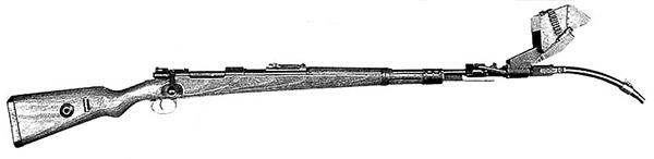 7,92-мм карабин Маузер 98K с искривленным стволом-насадкой Vorsatz J (пехотный вариант) на 30 град.