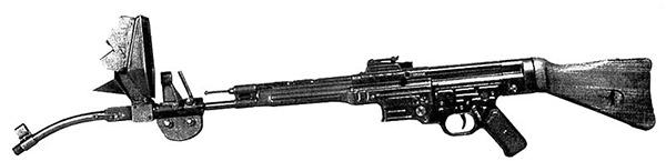 Автомат (штурмовая винтовка) MP44 с искривленным на 45 град. стволом-насадкой Vorsatz J с призматическим перископическим прицельным приспособлением