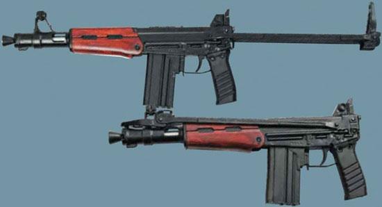 ТКБ-0116 в боевом (вверху) и походном (внизу) положении