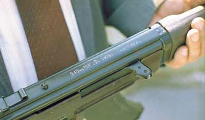 Рабочее название автомата «5,45 мм МА» наносилось на крышку ствольной коробки