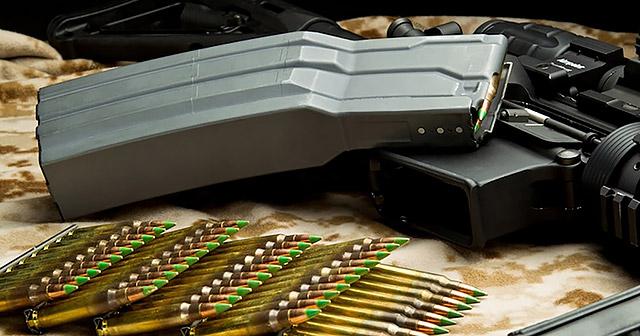 В отличие от Schmeisser S60, корпус 60-зарядного магазина Surefire MAG5-60 изготовлен из алюминия