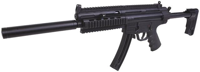 Эта самозарядная реплика пистолет-пулемета MP5 калибра .22 LR также имеет маркировку Made in Germany, являющуюся синонимом высокого качества продукта