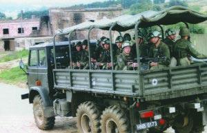 Группа спецназовцев из состава 7-й Лужицкой штурмовой бригады ВМС